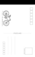 旅行 骑行 旅游纪念一个人的旅行,在路上遇见最真实的自己。8221240-长方留白明信片(竖款)套装