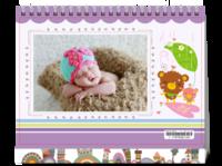 宝贝的成长记录 快乐童年-8寸单面印刷台历