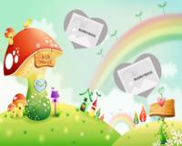 彩虹蘑菇屋-10寸木版画横款