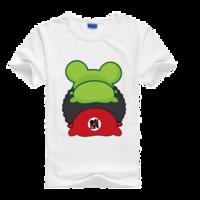 士巴蛙母版-莱卡纯色圆领男