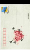爱的明信片九张各不同超级精美-长方留白明信片(竖款)套装