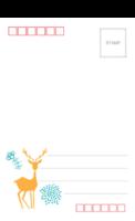 麋鹿-长方留白明信片(竖款)套装