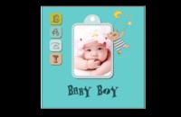 baby boy可爱男宝宝专属相册_简约可爱宝宝成长日记-8x8印刷单面水晶照片书21P
