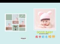 成长纪念册  儿童 萌娃 宝贝  照片可替换-硬壳精装照片书20p(亮膜)