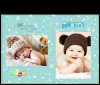 宝宝的童年-15寸硬壳蝴蝶装照片书24p