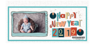 新年快乐-可爱卡通小动物系列-2019年新款5*9定制台历