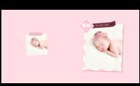 宝宝成长录(女宝宝款)-8X8锁线硬壳精装照片书—56p