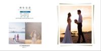 遇见爱情(爱情写真婚纱均适合、页内照片可替换)-方8青春纪念册30p