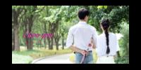 邂逅浪漫爱情 I love you-15x30cm拉菲版画 横款
