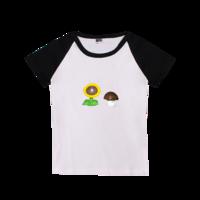 植物大战僵尸之太阳花和蘑菇-时尚童装插肩T恤