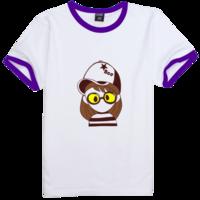 可爱Q版女孩(黄版)时尚撞色纯棉T恤
