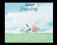 甜蜜旅行(装饰可移动、图片可换)-12x10寸木版画横款
