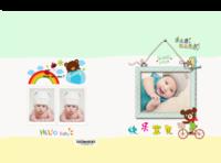 可爱宝贝萌萌哒 快乐宝宝成长留念 美好的回忆-精装硬壳照片书32p
