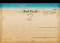 海边-18张正方形留白明信片(横款)