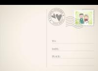 甜蜜爱情 结婚婚礼纪念-18张正方形留白明信片(横款)