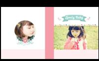 宝贝像花儿一样-卡通亲子宝宝成长生日纪念旅行の西西呆-8X8锁线硬壳精装照片书—56p