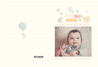 小兔子宝宝可爱萌萌哒时尚纪念册(300相框)-硬壳对裱照片书30p