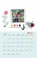 清新卡通花儿&蜜蜂&字母的故事(照片可换)-金属镂空夹台历【单面】【12p】