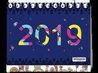 12星座 清新 2019#-8寸双面印刷台历