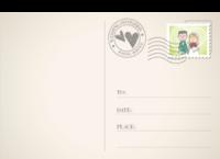 甜蜜爱情 结婚婚礼纪念-全景明信片(横款)套装