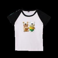 小熊metoo的快乐一家-时尚童装插肩T恤