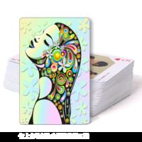 彩绘女人-双面定制扑克牌