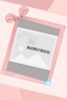 粉色公主 可爱布艺 淡雅大方-18寸木版画竖款