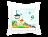 快乐城堡-方形个性抱枕
