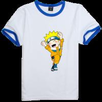 火影忍者-鸣人欢乐版时尚撞色纯棉T恤