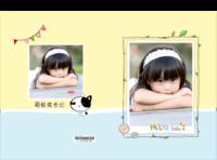 成长的足迹 幸福的痕迹 快乐宝贝成长记录册 幸福生活留念-硬壳精装照片书22p