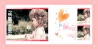 可爱宝贝成长记(内页照片可替换)-微喷pu蝴蝶装对裱照片书 方10寸(30p)