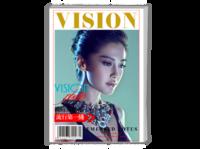 【简约版】视觉&流行第一线个人写真集-简约潮流范儿-封面照片可更换-A4杂志册26p(哑膜、胶装)