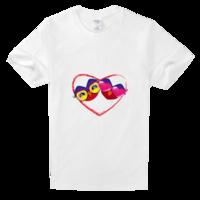 情侣猫头鹰舒适白色T恤