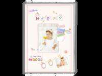 可爱萌宝宝快乐生活每一天—儿童成长纪念-A4杂志册26p(哑膜、胶装)