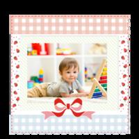快乐相伴(儿童成长记录)文字可编辑-6x6骑马钉画册