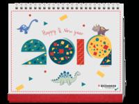 可爱手绘小恐龙-10寸双面印刷台历