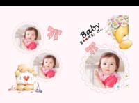 可爱宝贝童年记忆(封面照片可替换)--亲子 甜美 节日 粉色-硬壳精装照片书32p