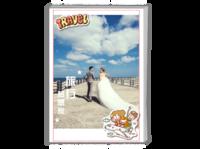 旅行梦想家 封面文字可改(结婚、毕业、旅行)-A4杂志册26p(哑膜、胶装)