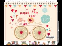 可爱童真 快乐单车 亲亲宝贝纪念-8寸双面印刷台历