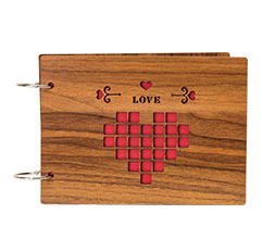 8寸木质DIY相册