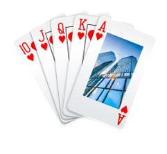 广告扑克牌
