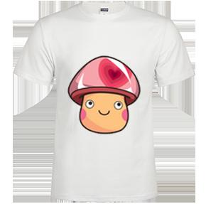 可爱幸福小蘑菇系列2高档白色t恤