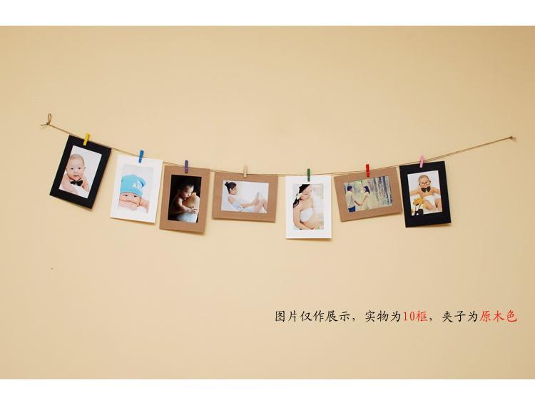 挂绳相册影集-diy个性系列-牛皮纸袋-木质夹子-展示