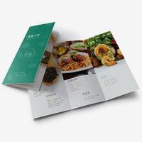 A4(展(zhan)開大16開)商務宣傳折頁 雙(shuang)面印刷