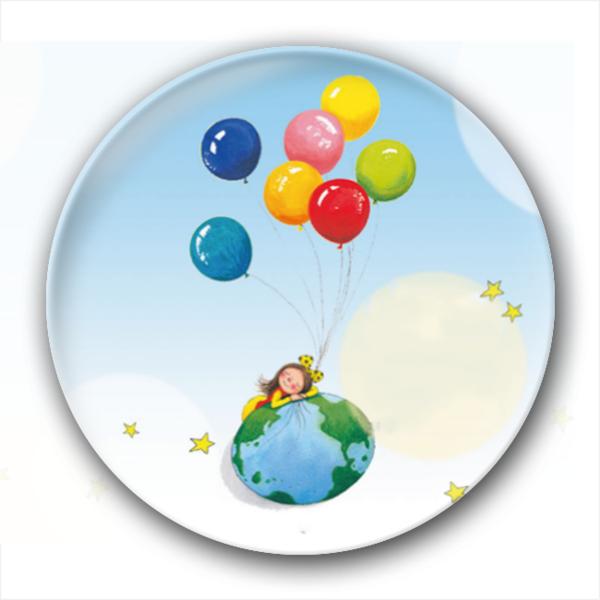 几米漫画气球可爱女孩唯美梦幻-卡通小人钥匙扣