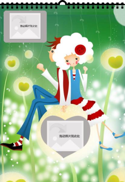 纽扣女孩-a4双月挂历图片