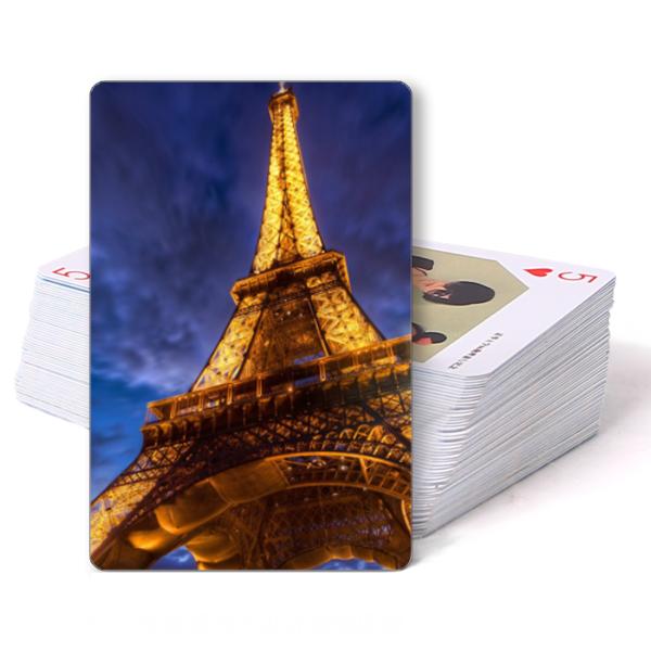 金碧辉煌之巴黎铁塔埃菲尔铁塔-双面定制扑克牌图片