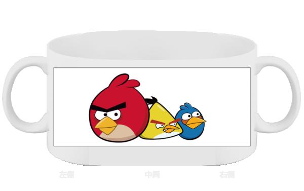 愤怒的小鸟-创意玻璃杯图片
