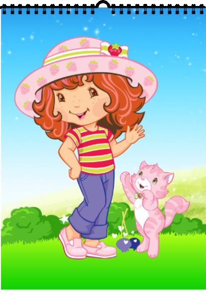 可爱草莓女孩-a4挂历图片