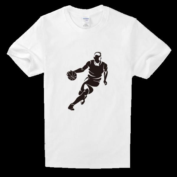 篮球带球运球运动舒适白色t恤图片
